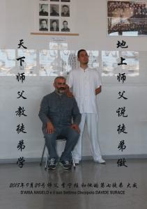 Shifu D'Aria Angelo e il suo 7°  TuDi Surace Davide